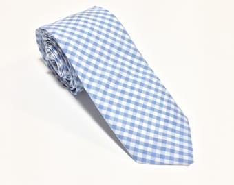 """""""Azul"""" Gingham Tie"""