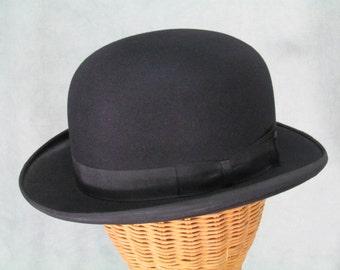 1920s Hat Vintage Derby 1930s Bowler Size Medium Large