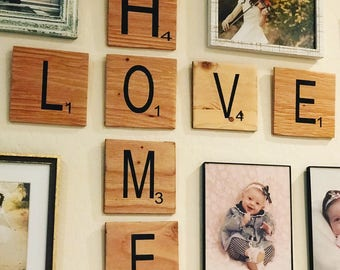 Scrabble Wall Art // Gallery Wall Sign // Giant Wall Letters