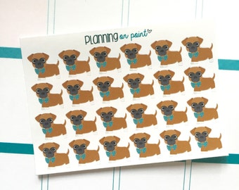 Tan Boxer Puppy Dog Planner Stickers!