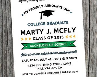 College Graduation Invitation/ Grad Party Invite/ Printable Graduation Celebration Invitation/ Digital Graduation Invitation