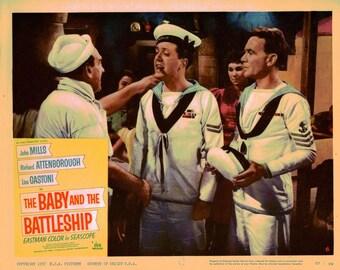 The Baby And The Battleship - 1957 - Original US lobby card  # 6