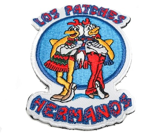 Los Patches Hermanos Embroidered Morale Patch - Hook Backed - by NEO Tactical Gear