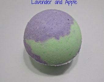 Lavender and Apple Bath Bomb- Fizzy and Bubbly