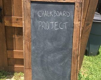 Chalkboard frame and chalkboard