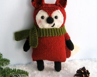 Amigurumi Knit Little Fox Pattern Digital Download