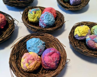 Easter Nest Seed Bombs, alternative Easter Gift, bee friendly