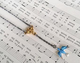 Bluebird Y Necklace