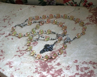 Persephone Prayer Beads: Greek Goddess of Spring, New Growth and Renewal, Death and the Afterlife, and Queen of the Underworld