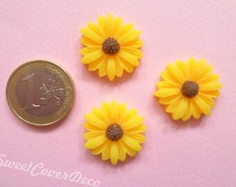 23 mm Kit 3 Cabochon Sunflower Sunflower