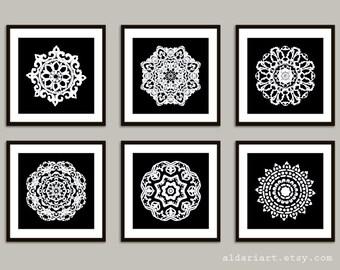 Mandala Art Prints - 8x8 - Modern Medallion Wall Art