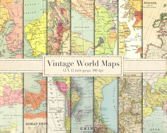 Vintage world maps scrapbook paper digital paper backgrounds vintage world maps scrapbook paper digital paper backgrounds antique maps europe asia africa mexico britain ireland map download from paperfarms gumiabroncs Image collections