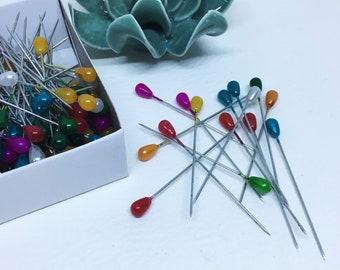 Sting, pins needles box 100 plastic head pins