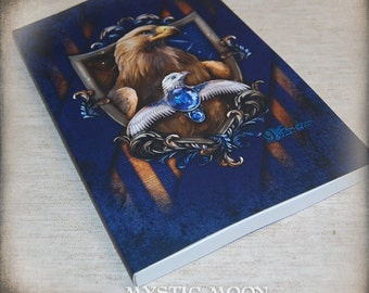 Lined Journal Wisdom /  Harry Gift Art / Eagle / Nerd Gifts / Nerdy / Wizard / Witch / Magic / Magical / Wizardry / School of / HP