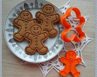 Gingerbread Man cookie cutter. 3D printed cutter. Christmas. Dough Cutter. Fondant Cutter
