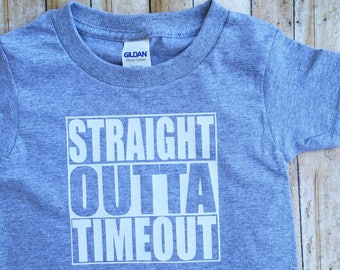 Toddler Shirt / Graphic Tee / Straight Outta Timeout / Funny Kid Shirt