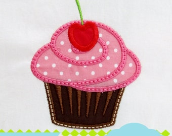 Cherry Cupcake MACHINE EMBROIDERY / INSTANT