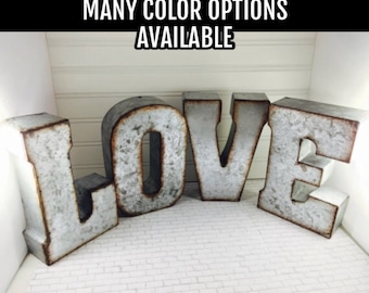 CLEARANCE/ Metal Letter A-Z/ Metal Letters/ 7 inch letter/You pick Metal Letter/Wedding Decor/Rustic/ Initials/Wall Letter/ Shelf/Industrial