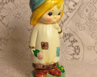 Blonde kerchief girl figurine