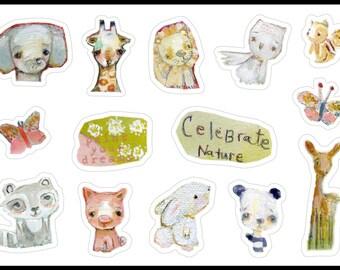 Baby Animals - sticker sheet