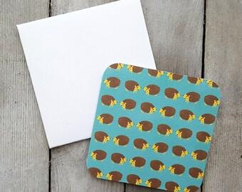 Hedgehog Mini Cards, Blank Mini Cards