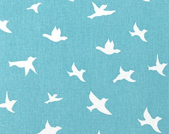 "Premier Prints Bird Silhouette Fabric COASTAL BLUE or Color Choice 54""Wide"