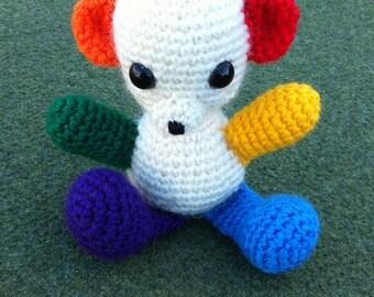 Rainbow Pride Bear Toy (amigurumi)