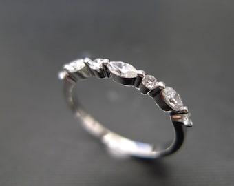 Marquise Diamond Wedding Ring Wedding Ring Wedding Band