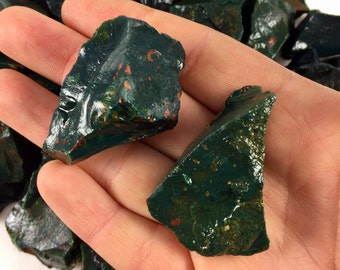 Raw Bloodstones Crystal One Stone - Protection Stone, Raw Bloodstone, Healing Stones, Root Chakra, Crystals and Stones