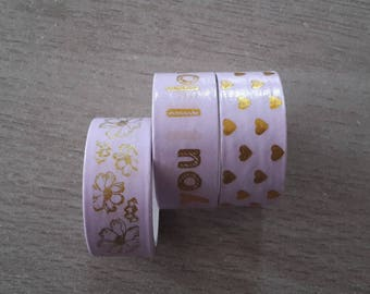 Washi tape love hearts and dleurs
