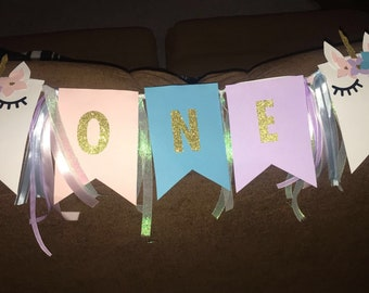 Highchair banner for first birthday