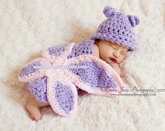 Instant Download Crochet Pattern - No 14 Butterfly - Cuddle Critter Cape Set  - Newborn Photography Prop