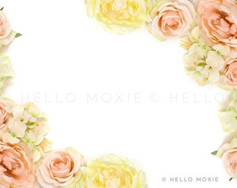 Styled Stock Photography , floral flatlay, pink rose image, floral stock photography, feminine stock photos