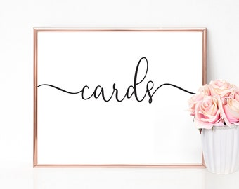 Cards Sign | Wedding Sign, Gift Table Sign, Card Sign, Card Box Sign, Wedding Card Sign, Cards and Gifts Sign, Card Table Sign, Cards Sign