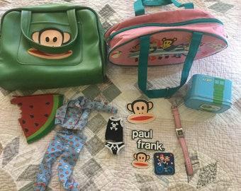 Paul Frank purses, watch, umbrella, and Barbie Clothes