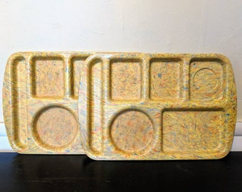 Vintage Melanine Lunch Trays