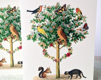 Greeting Cards, Note Cards, Stationery, Card Set, Animal Cards, Wildlife Cards, Set of 8