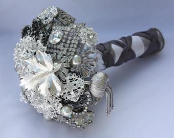 Silver Brooch Bouquet