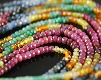 1/2 strand semi precious stone rondelles  - WHOLESALE PRICES   25.00