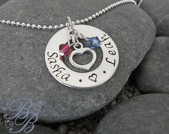 Personalized Jewelry - Handstamped Jewelry - Mother's Necklace - Name Necklace