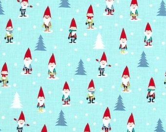 Many Mini Gnomes Michael Miller fabric FQ or more