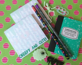 Creepy Cute Pastel Goth Eyeballs Notepad