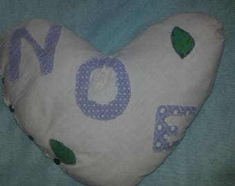 personalized heart pillow: pillow and pillowcase wash machine Noah