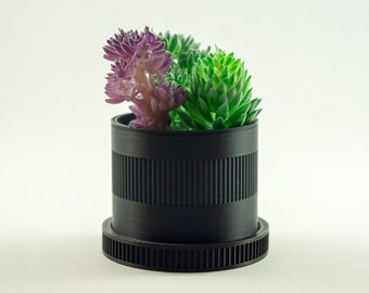 Camera Lens Planter - Gift for Photographer | Father's Day | Succulent | Photography Decoration | Desk Planter