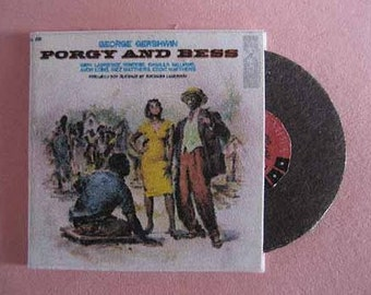 Record Album Porgy and Bess - dollhouse miniature 1:12 scale