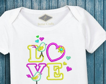50% OFF LOVE - Machine Embroidery Applique Design 4 Sizes