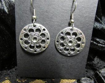 Yoga earrings, Yoga jewelry, Chakra flower earrings, flower earrings, chakra jewelry, chakra, meditation earrings, meditation jewelry, zen,