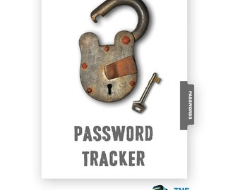 Password Tracker Kit -  INSTANT DOWNLOAD Password & Username keeper for the MAMBI Happy Planner