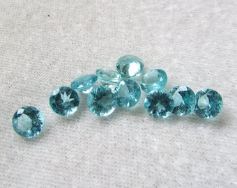 6 mm Round Natural genuine Apatite round top cut faceted gemstone.....