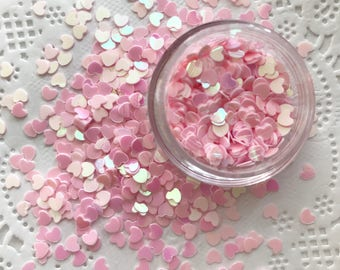 Sequin Hearts, Loose Sequins Mix, Confetti, PINKS HEARTS